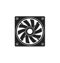 computer air fan cooler vector image
