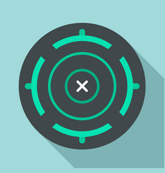 cross aim target icon flat style vector image