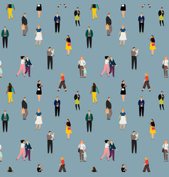 crowd people vector image