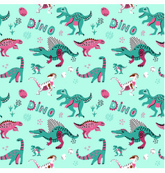 Cute childish seamless pattern with vector