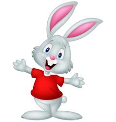 Cute happy baby rabbit cartoon vector