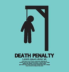 Death Penalty Symbol vector