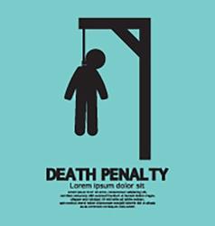 Death penalty symbol vector