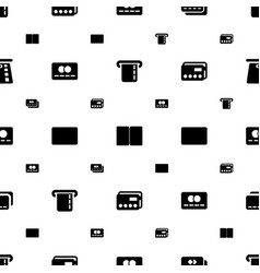 Debit icons pattern seamless white background vector