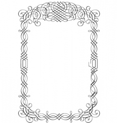 decorative script detailed vector image