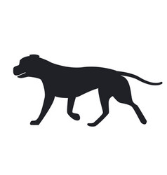 dog black silhouette profile view icon vector image