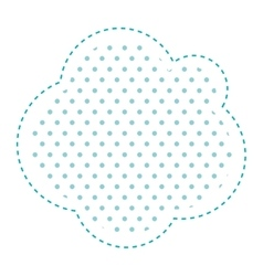 Dotted silhouette cloud callout of thought vector
