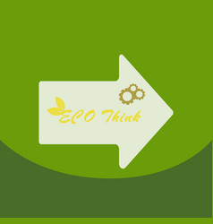 Eco postereco banner for world environment day vector