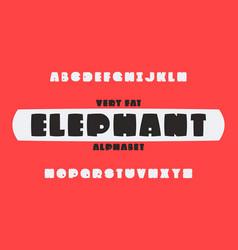 Elephant font alphabet vector
