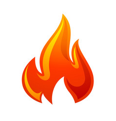 Fire flame 3d red icon vector