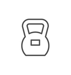 fitness kettlebell line outline icon vector image