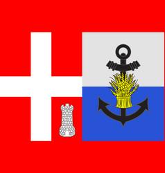 Flag of albertville in savoie of vector