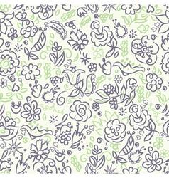 Floral saemless pattern violet green vector