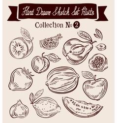 Fruit Hand-drawn Doodle set vector image vector image