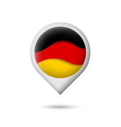 germany flag icon in shape pointer map vector image