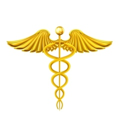 Golden Caduceus vector image