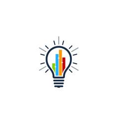 Graph idea logo icon design vector