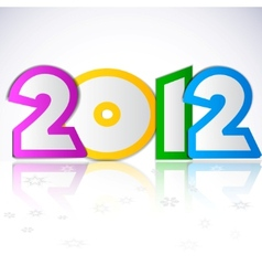 Happy new year 2012 design element vector