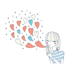 Heart bubbles vector