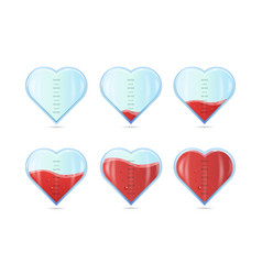 Heart rating love meter or gauge icon for vector