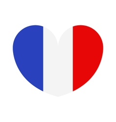 heart with flag of france vector image