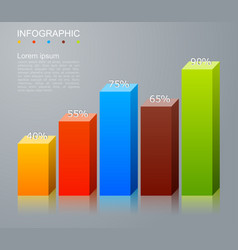 Infographic elements in modern fashion vector