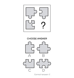 IQ test Logical tasks composed of puzzles shapes vector image