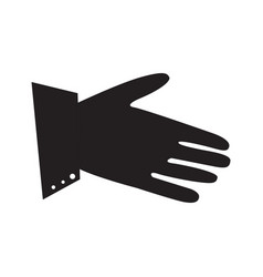 Isolated hand silhouette vector