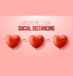 Keep a safe distance while celebrating valentines vector