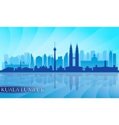 Kuala Lumpur city skyline detailed silhouette vector