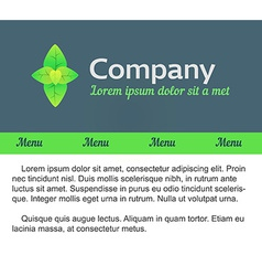 Logo and Template Webdesign vector