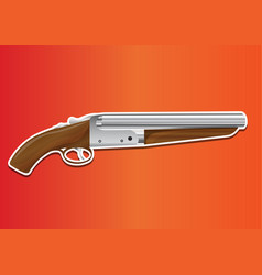 Lupara or sawn-off shotgun vector