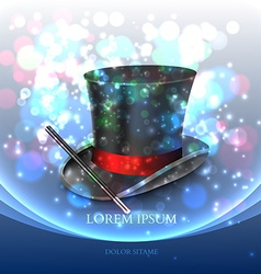 Magician Top Hat with magic particles vector image
