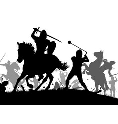 Medieval war vector
