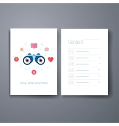 Modern social search and discovery flat icons vector