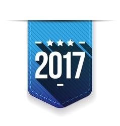 New Year 2017 blue ribbon vector