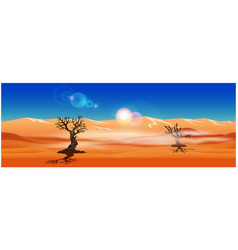 panorama of the sandy desert vector image