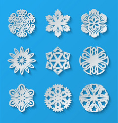 Paper snowflakes vector