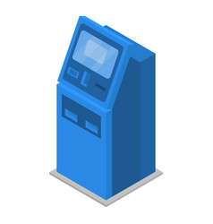payment machine icon isometric style vector image