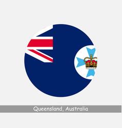 Queensland australia round circle flag vector