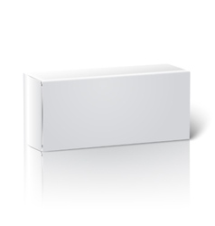 Realistic white blank paper package box vector image