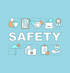 Safety word concepts banner vector