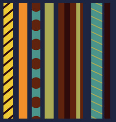 seamless pattern with colored vertical stripes vector image