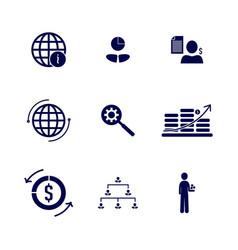 set business finance icon logo concept vector image