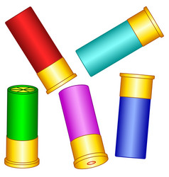 Shotgun shell set vector