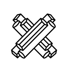 sign of the letter x vector image