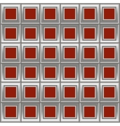 Silver red background with squares vector