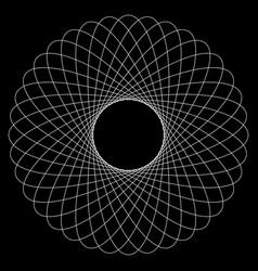 Spirograph pattern like rotating spiral vortex vector