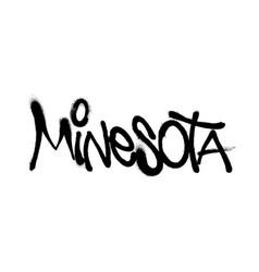 Sprayed minesota font graffiti with overspray in vector