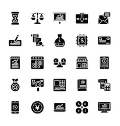 startup and new business glyph icons vector image